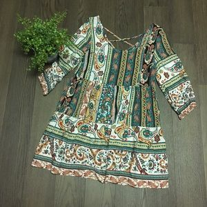 Umgee Size Small 3/4 length sleeve Tunic Blouse
